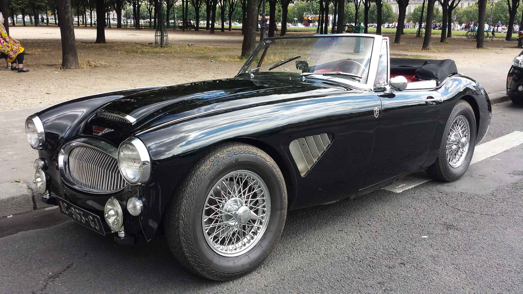 austin healey 3000 mk3 1965 noire classic car. Black Bedroom Furniture Sets. Home Design Ideas