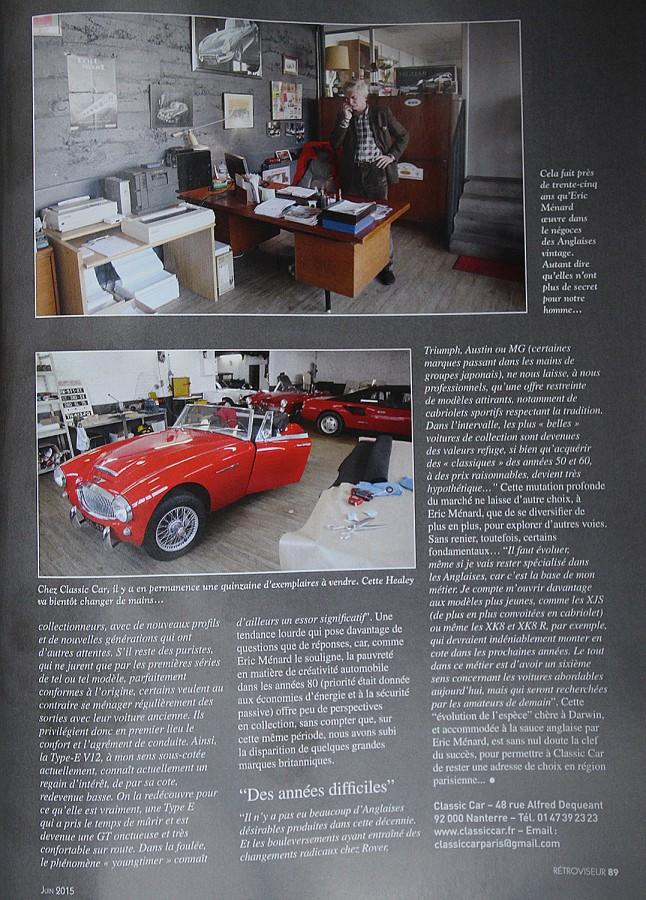 Rétroviseur 312 Classic Car P89